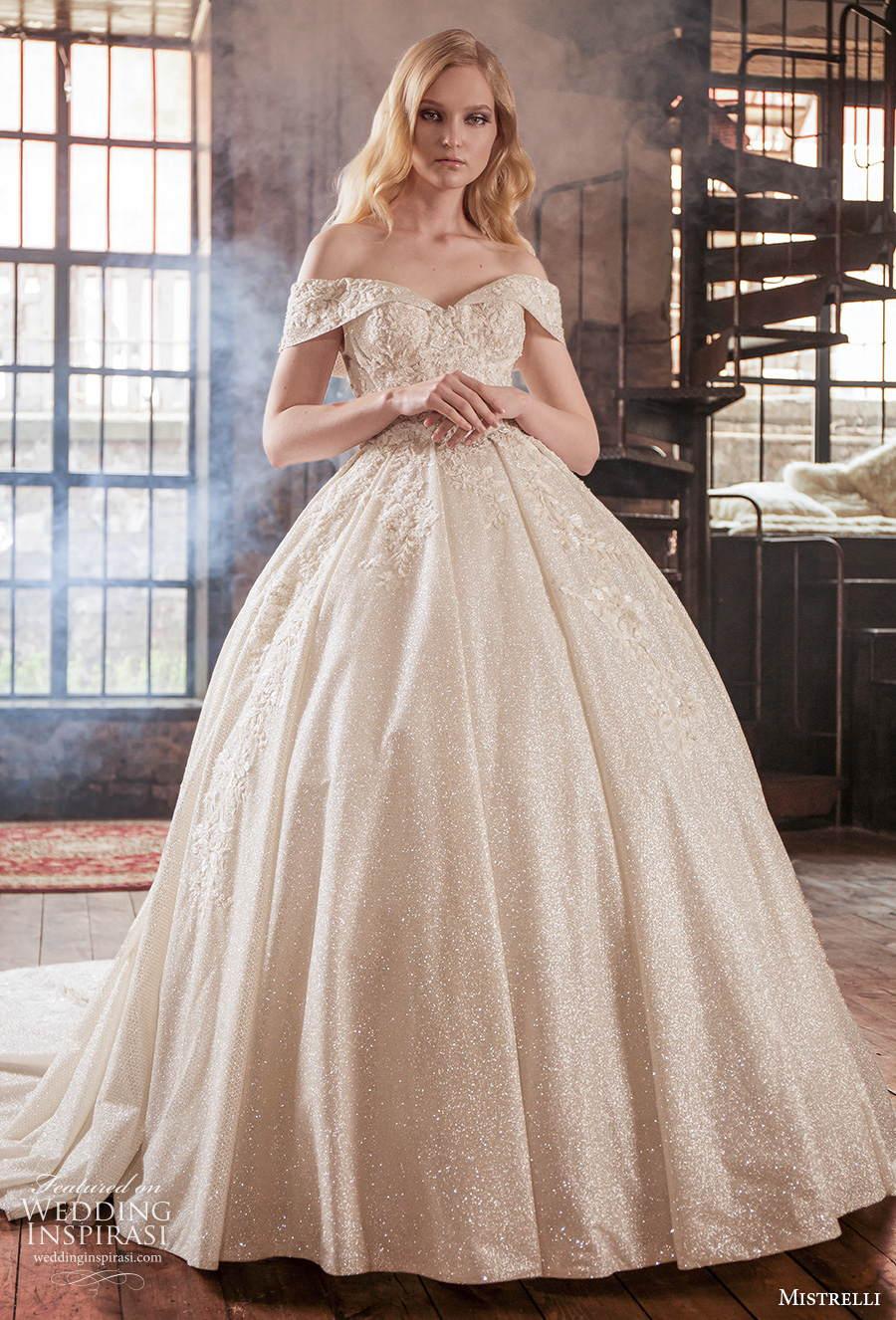 mistrelli 2021 royal drama bridal off the shoulder v neck full embellishment princess ball gown a  line wedding dress v back chapel train (13) mv