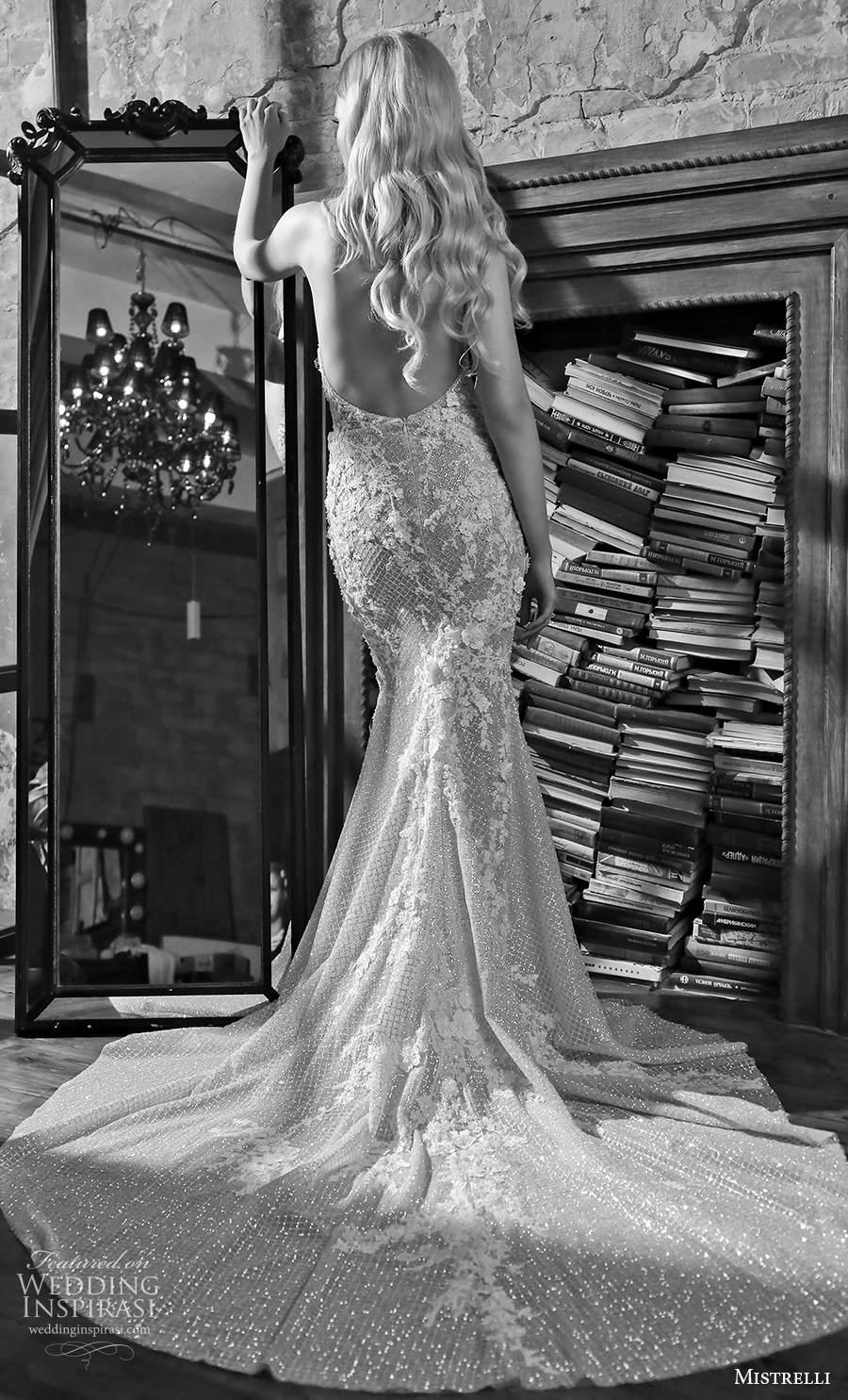 mistrelli 2021 royal drama bridal sleeveless halter neck v neck full embellishment glamorous sheath wedding dress backless chapel train (7) bv