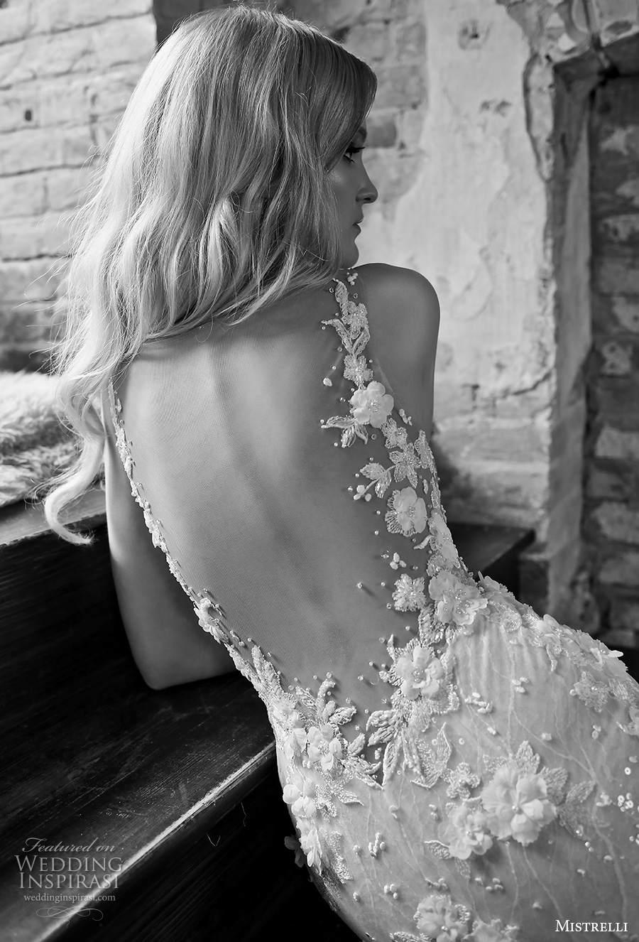 mistrelli 2021 royal drama bridal sleeveless thin strap deep plunging v neck full embellishment glamorous elegant sheath wedding dress backless low back medium train (4) zbv