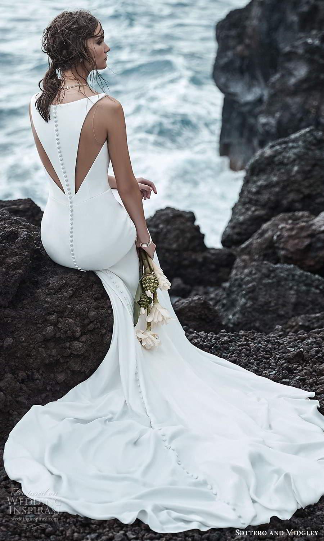 sottero midgley fall 2020 bridal sleeveless straps v neckline clean minimalist mermaid wedding dress chapel train (10) bv