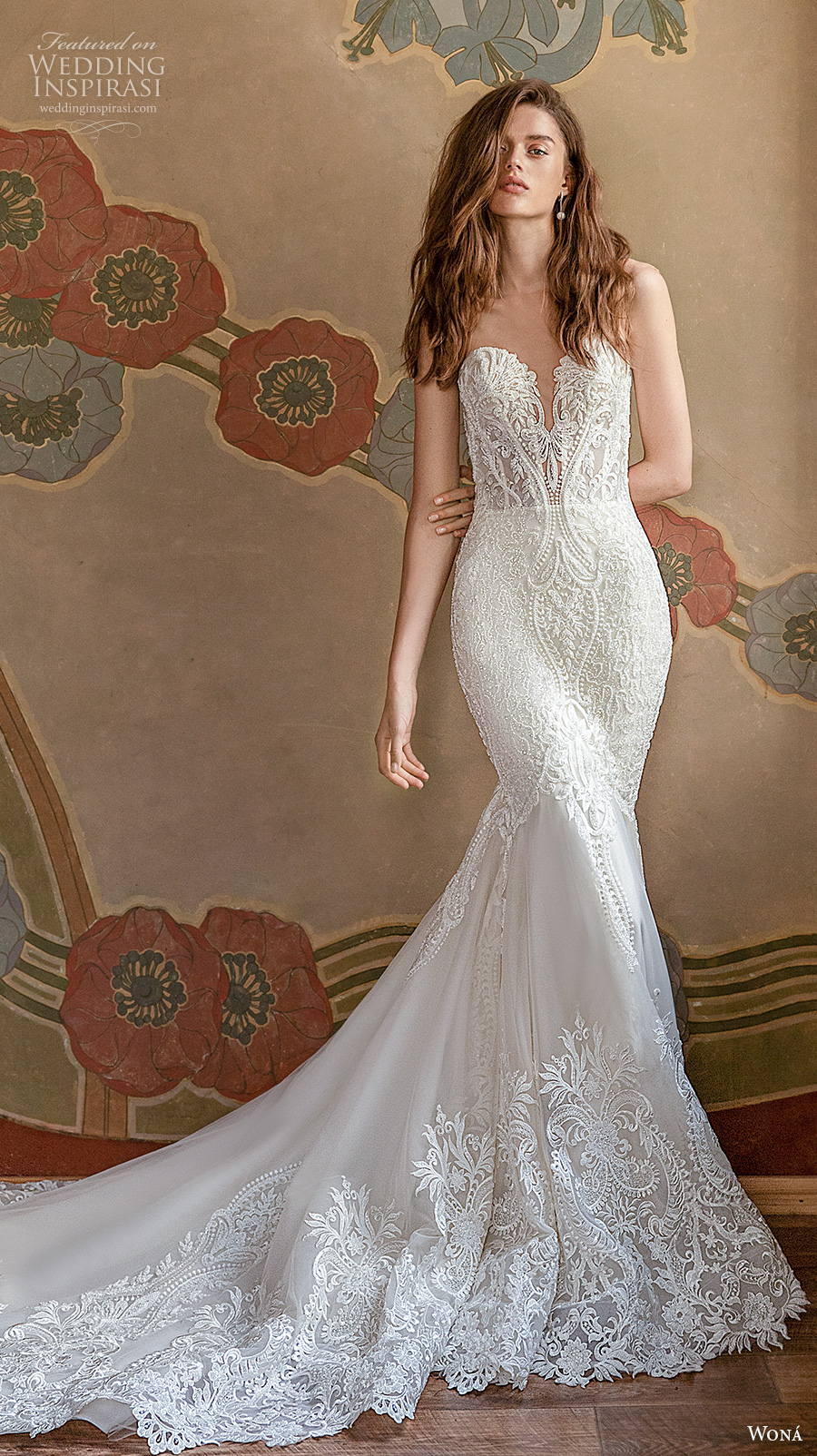 wona concept 2021 romance bridal strapless sweetheart neckline full embellishment mermaid wedding dress sheer button back chapel train (15) mv