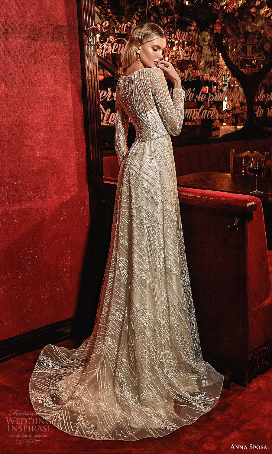 anna sposa 2021 couture bridal illusion long sleeves jewel neckline fully embellished a line ball gown wedding dress chapel train (9) bv