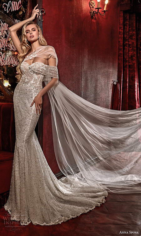 anna sposa 2021 couture bridal off shoulder straps asymmetrical fully embellished glitzy mermaid sheath wedding dress chapel train (1) fv