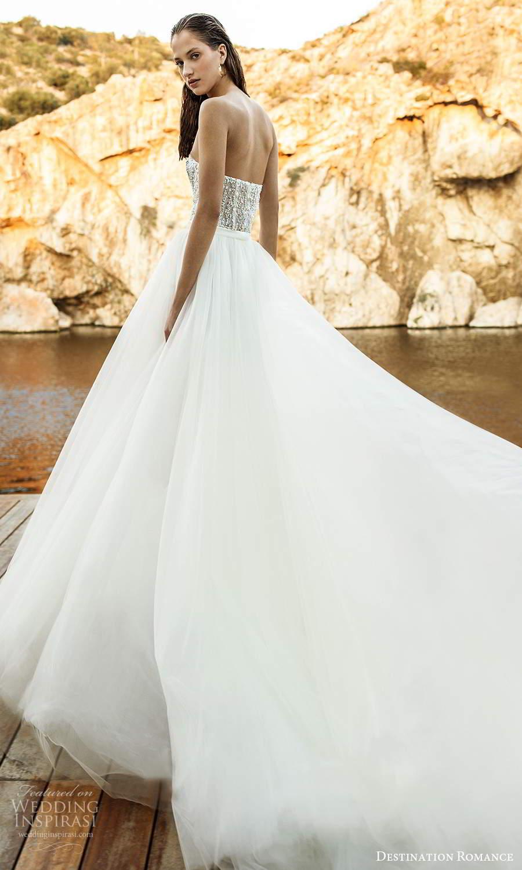 destination romance 2020 bridal illusion long sleeves bateau neckline short jumpsuit a line overskirt wedding dress (6) bv