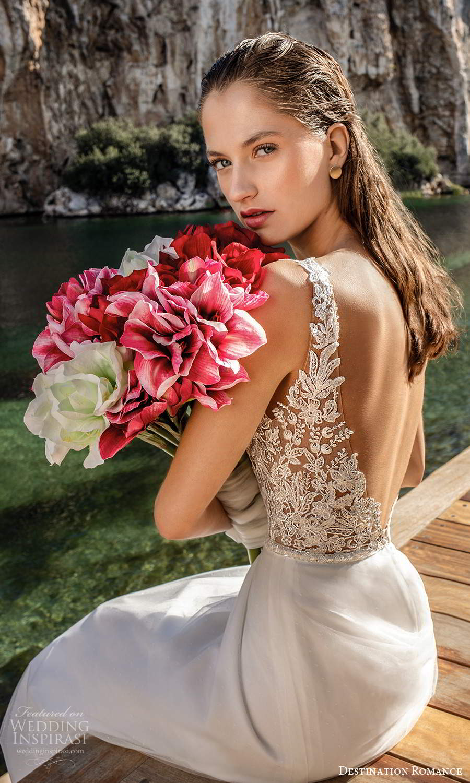 destination romance 2020 bridal sleeveless straps plunging v neckline embellished bodice a line ball gown wedding dress chapel train (5) zbv
