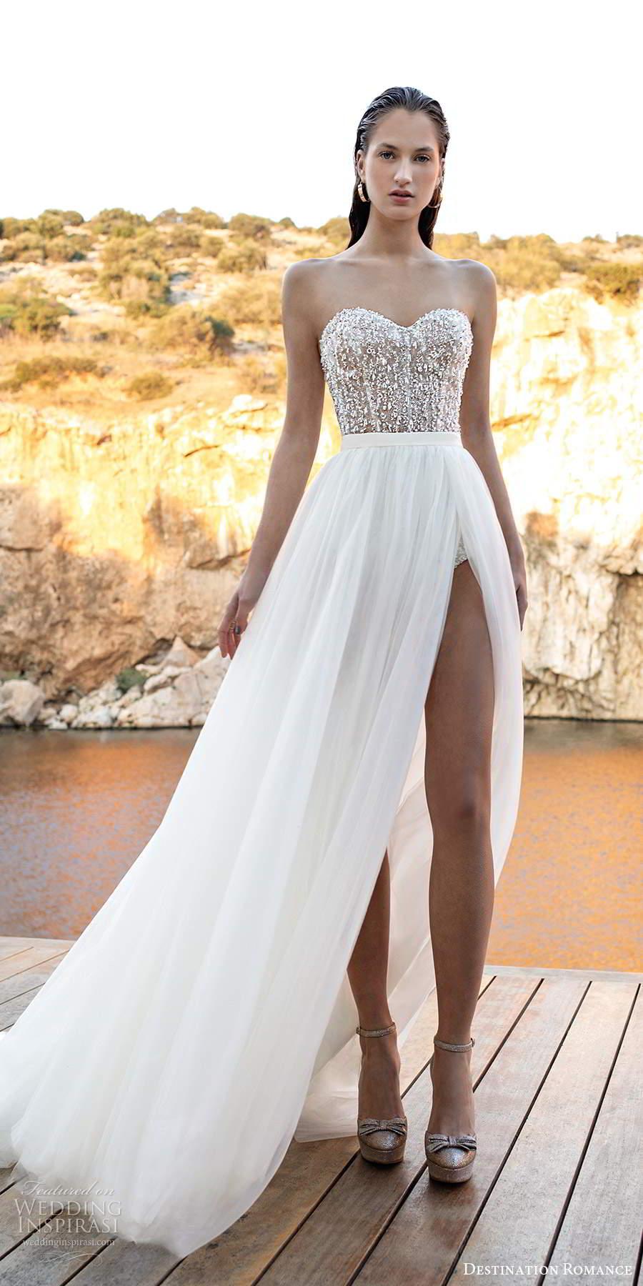destination romance 2020 bridal strapless sweetheart neckline heavily embellished bodice a line wedding dress (12) mv
