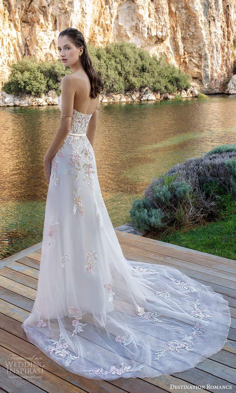 destination romance 2020 bridal strapless sweetheart neckline heavily embellished bodice a line wedding dress blush pink (9) bv