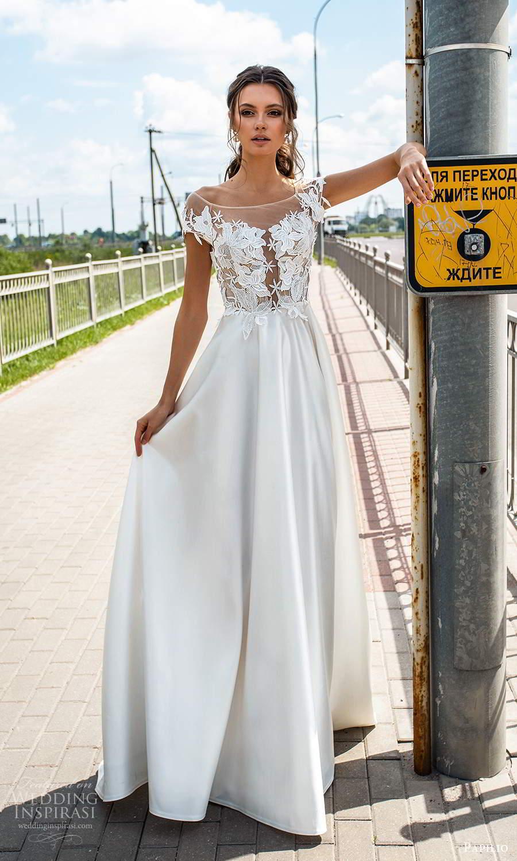 papili 2020 freedom bridal illusion cap sleeves bateau neckline embellished bodice a line ball gown wedding dress (18) mv
