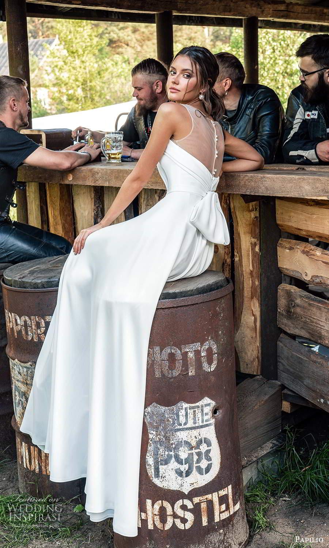 papili 2020 freedom bridal sleeveless illusion straps sweetheart necklnie clean minimalist a line ball gown wedding dress chapel train (3) bv