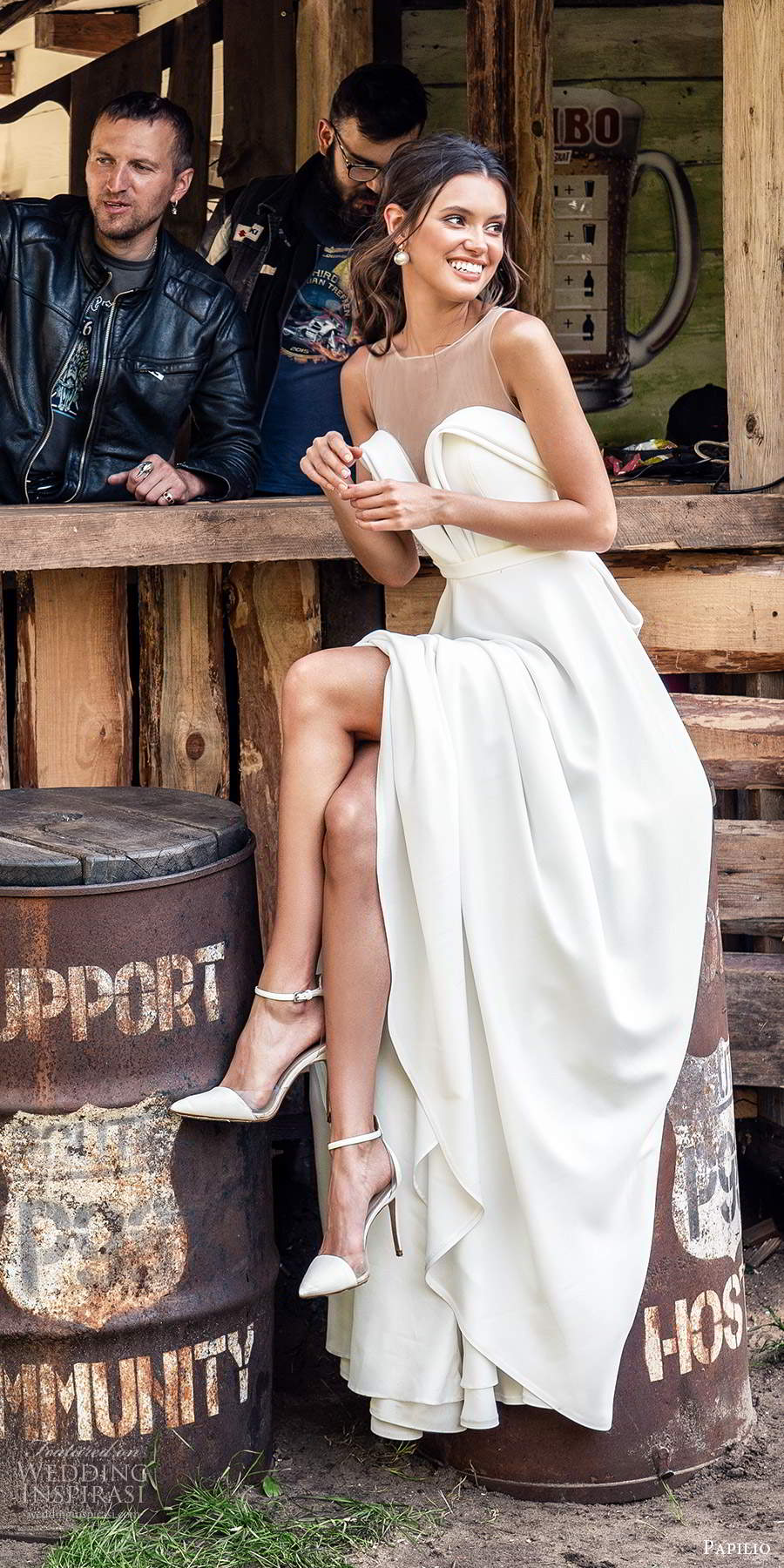 papili 2020 freedom bridal sleeveless illusion straps sweetheart necklnie clean minimalist a line ball gown wedding dress chapel train (3) sv