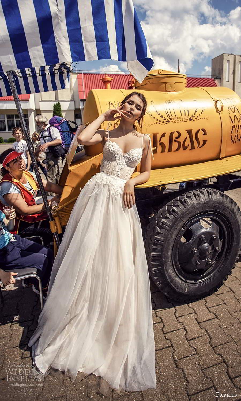 papili 2020 freedom bridal sleeveless thin straps sweetheart necklne embellished bodice a line ball gown wedding dress blush (9) mv