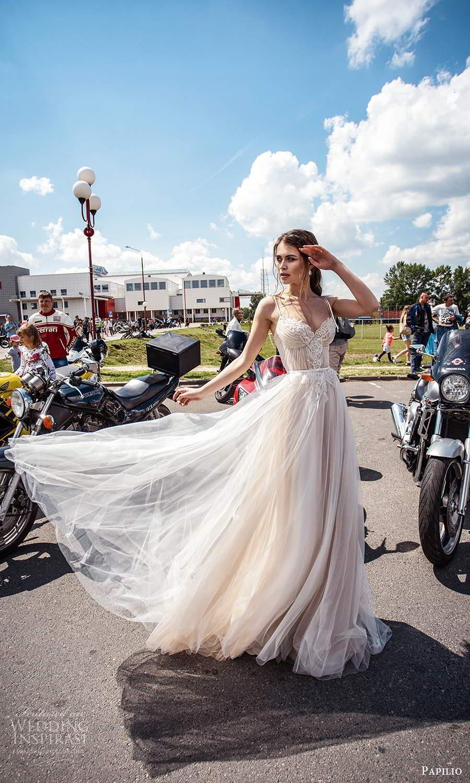 papili 2020 freedom bridal sleeveless thin straps sweetheart necklne embellished bodice a line ball gown wedding dress blush (9)sv