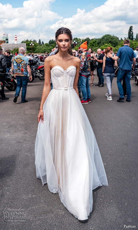papili 2020 freedom bridal strapless sweetheart neckline corset bodice a line ball gown wedding dress blush (13) mv