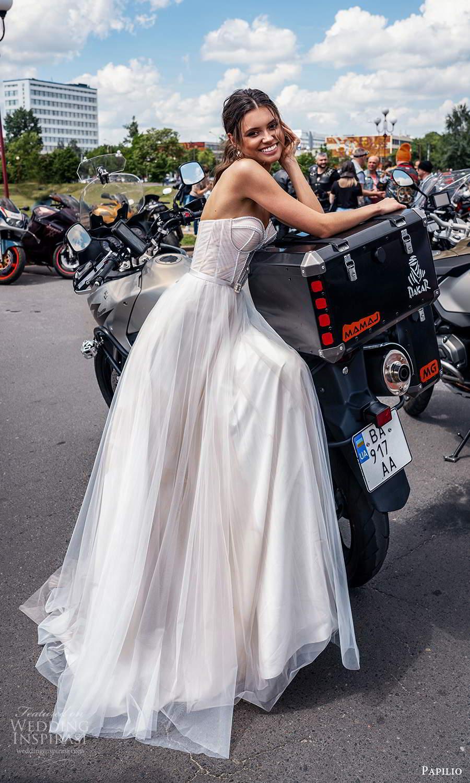 papili 2020 freedom bridal strapless sweetheart neckline corset bodice a line ball gown wedding dress blush (13) sv