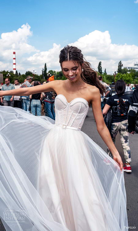 papili 2020 freedom bridal strapless sweetheart neckline corset bodice a line ball gown wedding dress blush (13) zv