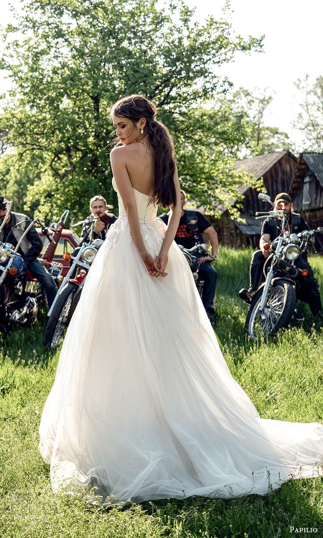 papili 2020 freedom bridal strapless sweetheart necklnie embellished bodice a line ball gown wedding dress (7) bv