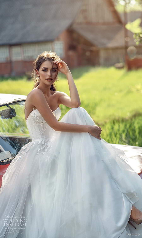 papili 2020 freedom bridal strapless sweetheart necklnie embellished bodice a line ball gown wedding dress (7) zv