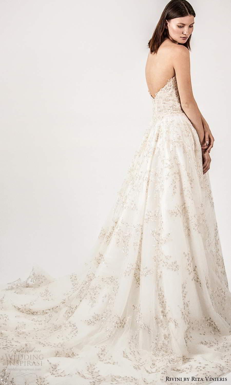 rivini rita vinieris spring 2021 bridal strapless straight across split neckline fully embellished a line ball gown wedding dress champagne chapel train (4) bv