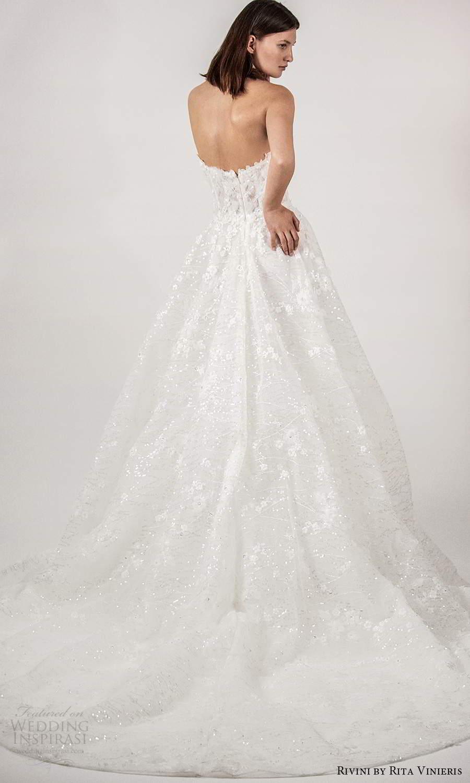 rivini rita vinieris spring 2021 bridal strapless sweetheart neckline fully embellished a line ball gown wedding dress chapel train (6) bv