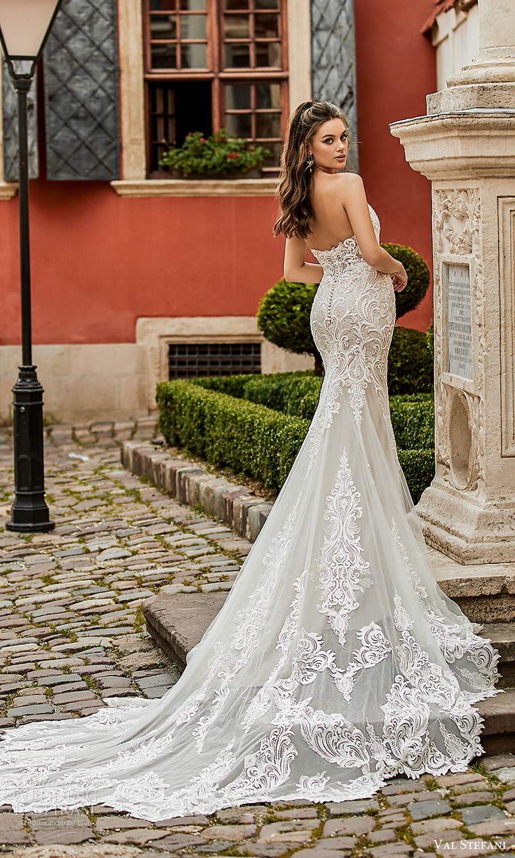 val stefani spring 2021 bridal strapless sweetheart neckline fully embellished trumpet mermaid wedding dress chapel train (4) bv