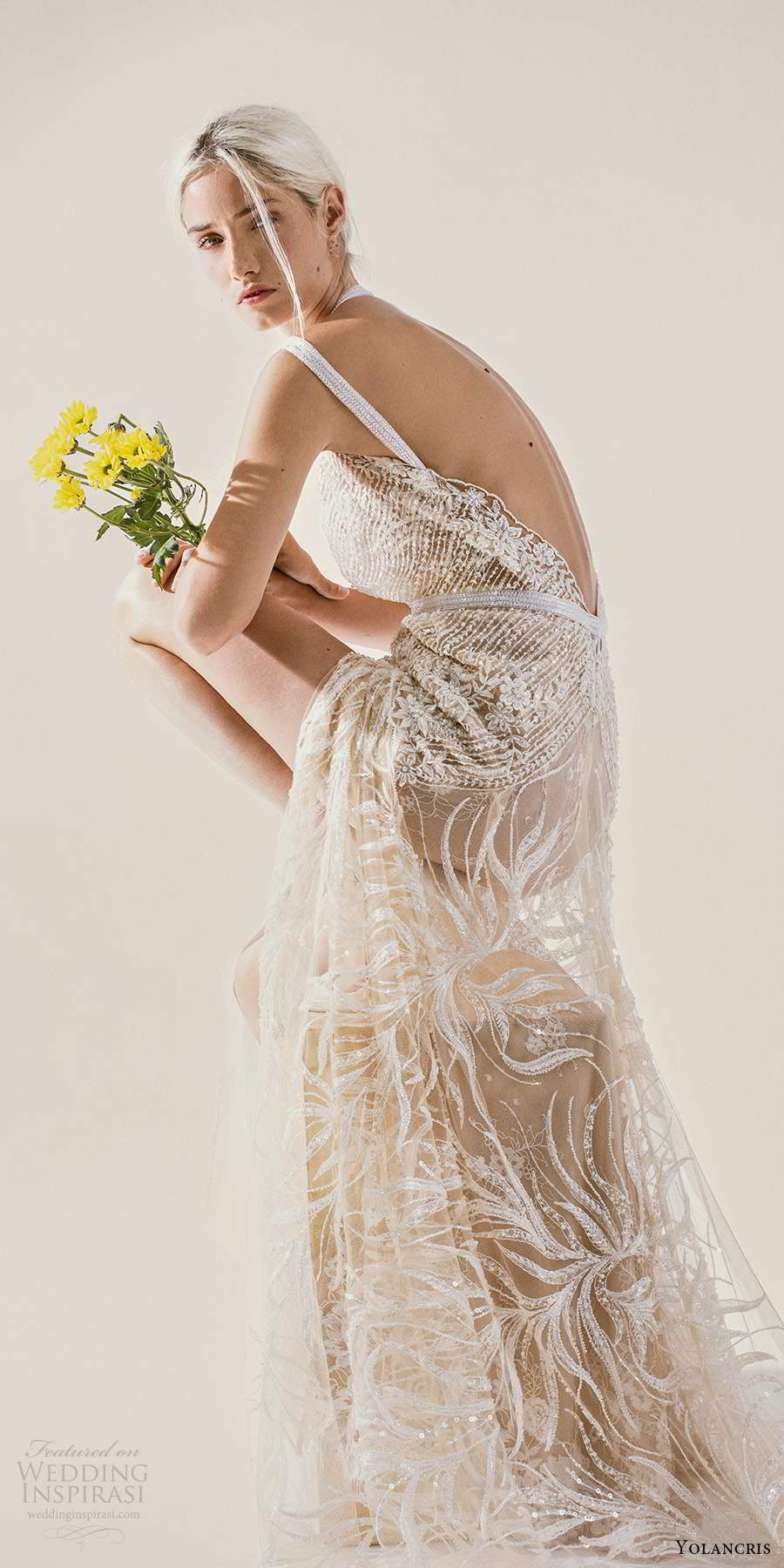 yolancris 2021 bridal sleeveless double straps v neckline fully embellished sheath wedding dress chapel train (3) zsv