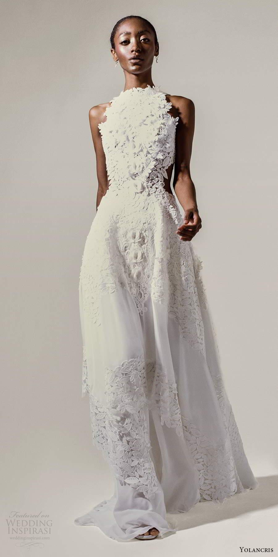 yolancris 2021 bridal sleeveless halter neckline fully embellished a line ball gown wedding dress (6) mv