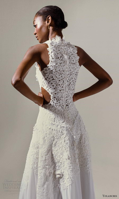 yolancris 2021 bridal sleeveless halter neckline fully embellished a line ball gown wedding dress (6) zbv