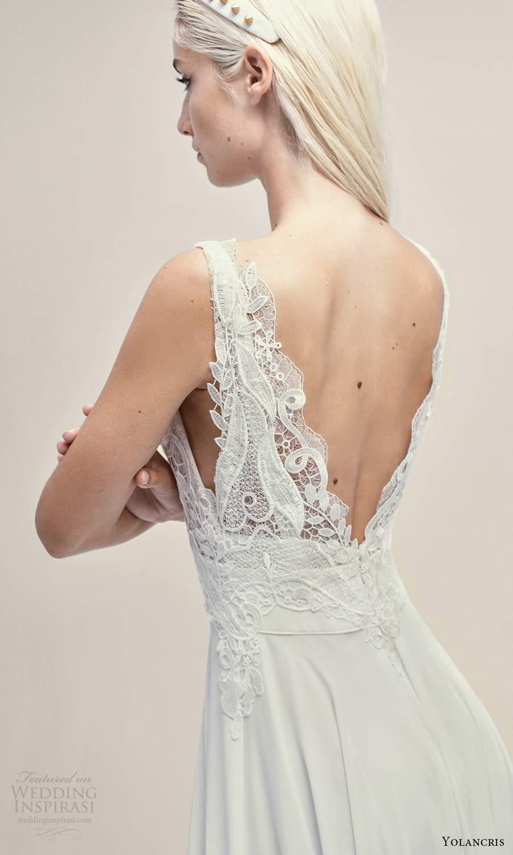 yolancris 2021 bridal sleeveless straps plunging v neckline embellished lace bodice a line wedding drses (21) zbv
