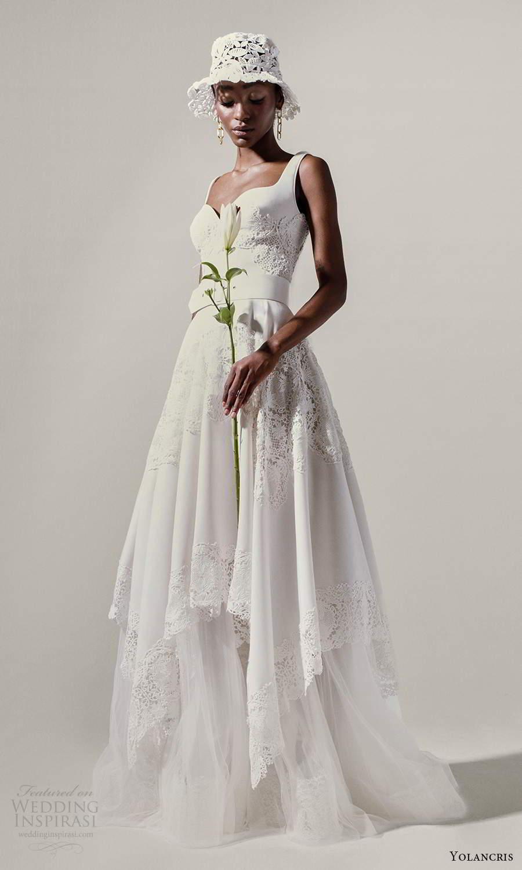 yolancris 2021 bridal sleeveless thick straps sweetheart neckline embellished a line ball gown wedding dress (15) mv
