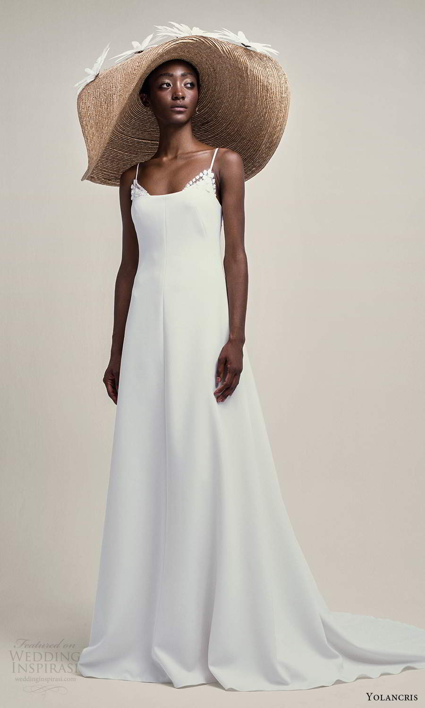 yolancris 2021 bridal sleeveless thing straps scoop neckline a line wedding dress chapel train (12) mv