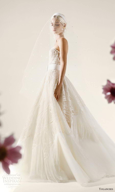 yolancris 2021 bridal strapless sweetheart neckline fully embellished lace ball gown wedding dress chapel train (1) mv