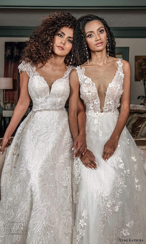 yumi katsura fall 2021 bridal sleeveless thick straps plunging v neckline fully embellished a line ball gown wedding dress chapel train (6) zv
