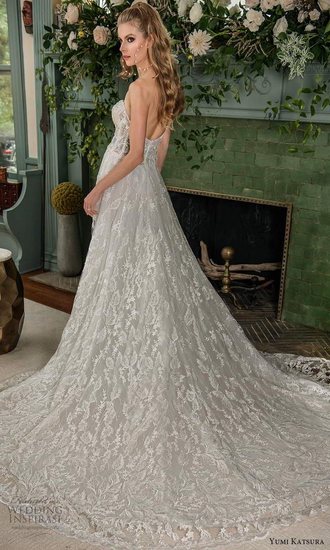 yumi katsura fall 2021 bridal strapless sweetheart neckline fully embellished sheath wedding dress chapel train (18) bv