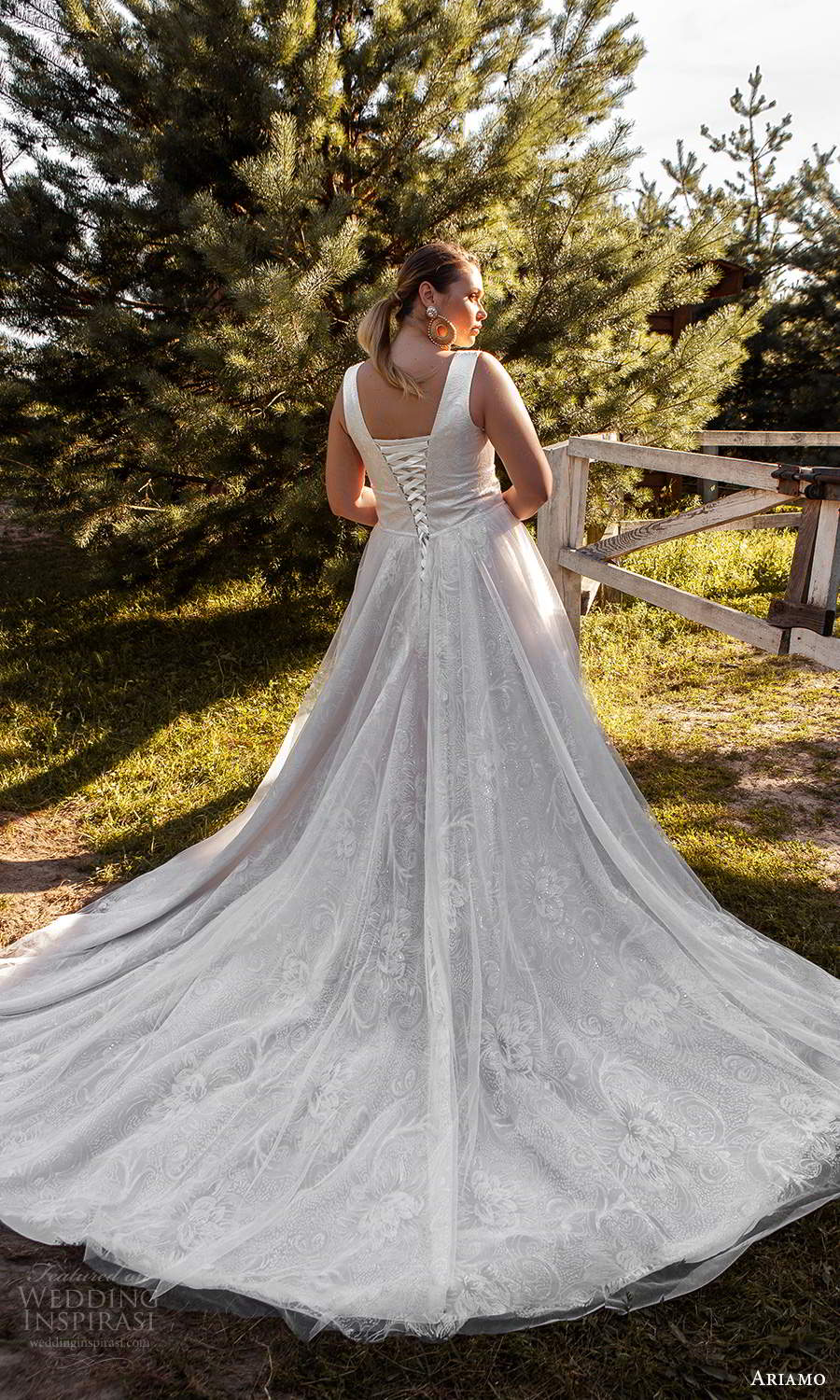 ariamo 2021 plus bridal sleeveless plunging v neckline embellished a line ball gown wedding dress chapel train (8) bv