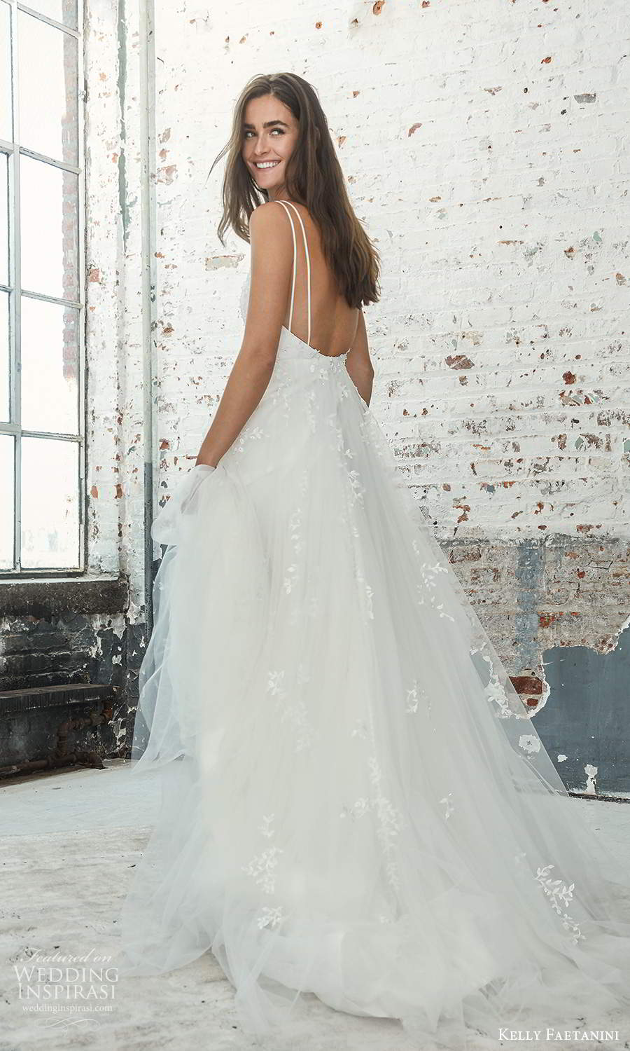 kelly faetanini 2021 bridal sleeveless double straps scoop neckline embellished bodice a line ball gown wedding dress chapel train (20) bv