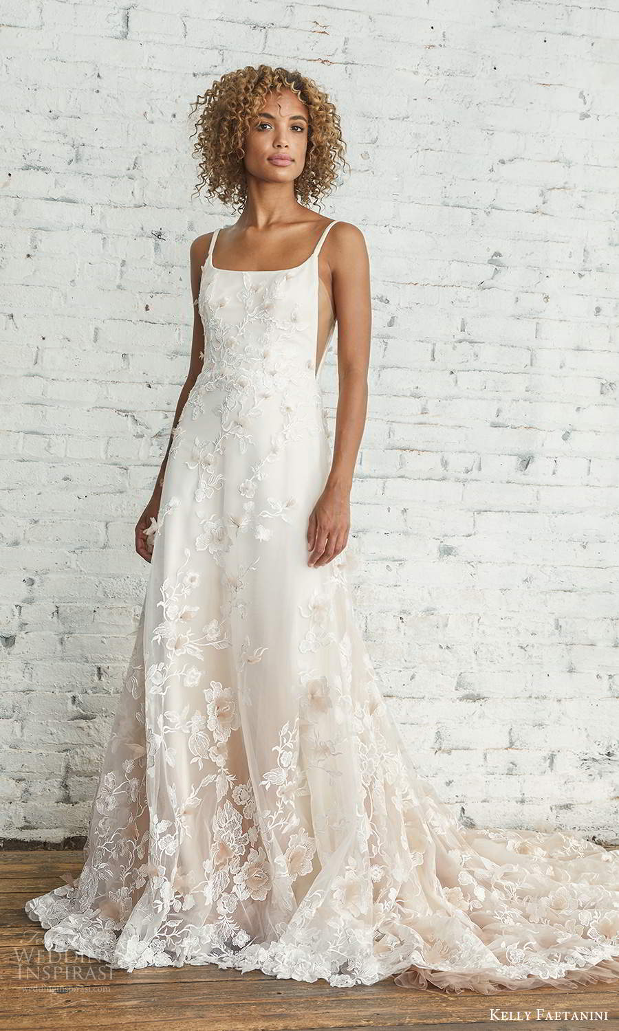 kelly faetanini 2021 bridal sleeveless straps square neckline side cutouts fully embellished ombre skirt a line ball gown wedding dress chapel (1) mv