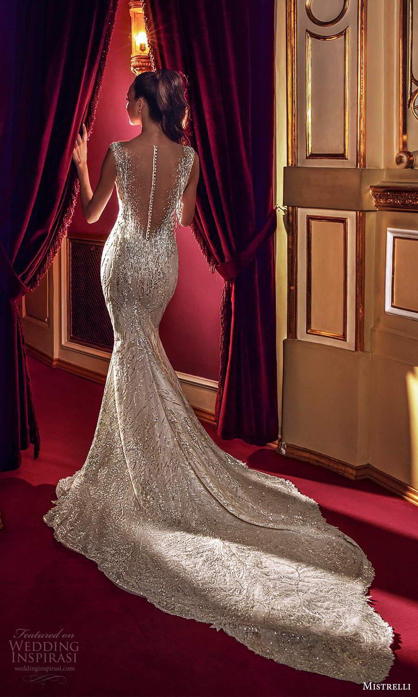 mistrelli 2021 innamorata bridal cap sleeves sweetheart neckline fully embellished sheath wedding dress chapel train (14) bv