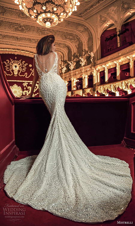mistrelli 2021 innamorata bridal sleeveless illusion straps plunging sweetheart fully embellished sheath wedding dress chapel train (5) bv