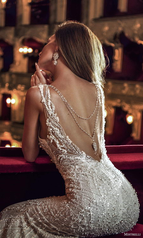 mistrelli 2021 innamorata bridal sleeveless illusion straps plunging sweetheart fully embellished sheath wedding dress chapel train (5) zbv