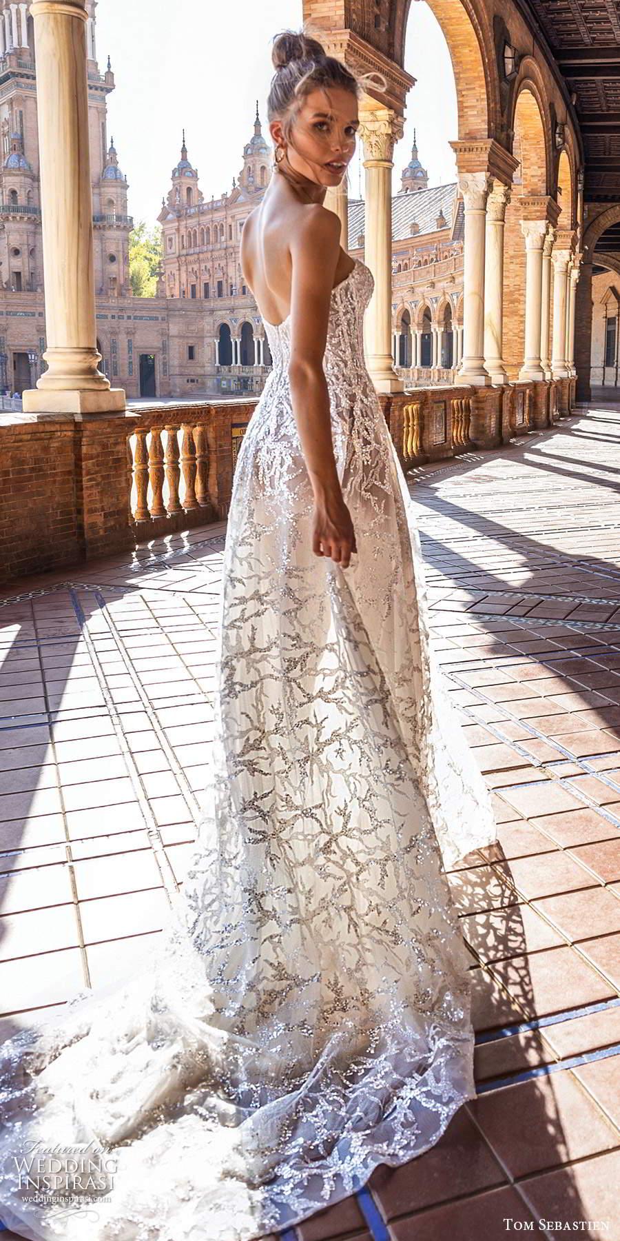 tom sebastien 2021 bridal strapless sweetheart neckline fully embellished a line ball gown wedding dress chapel train (2) bv