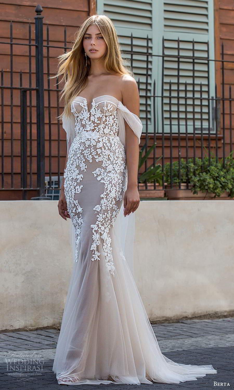 berta fall 2021 privee  bridal detachable off shoulder straps strapless semi sweetheart neckline embellished bodice sheath mermaid wedding dress chapel train (12) mv