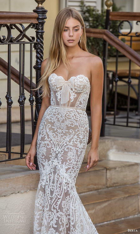 berta fall 2021 privee  bridal strapless sweetheart neckline fully embellished fit flare mermaid wedding dress chapel train (10) zv