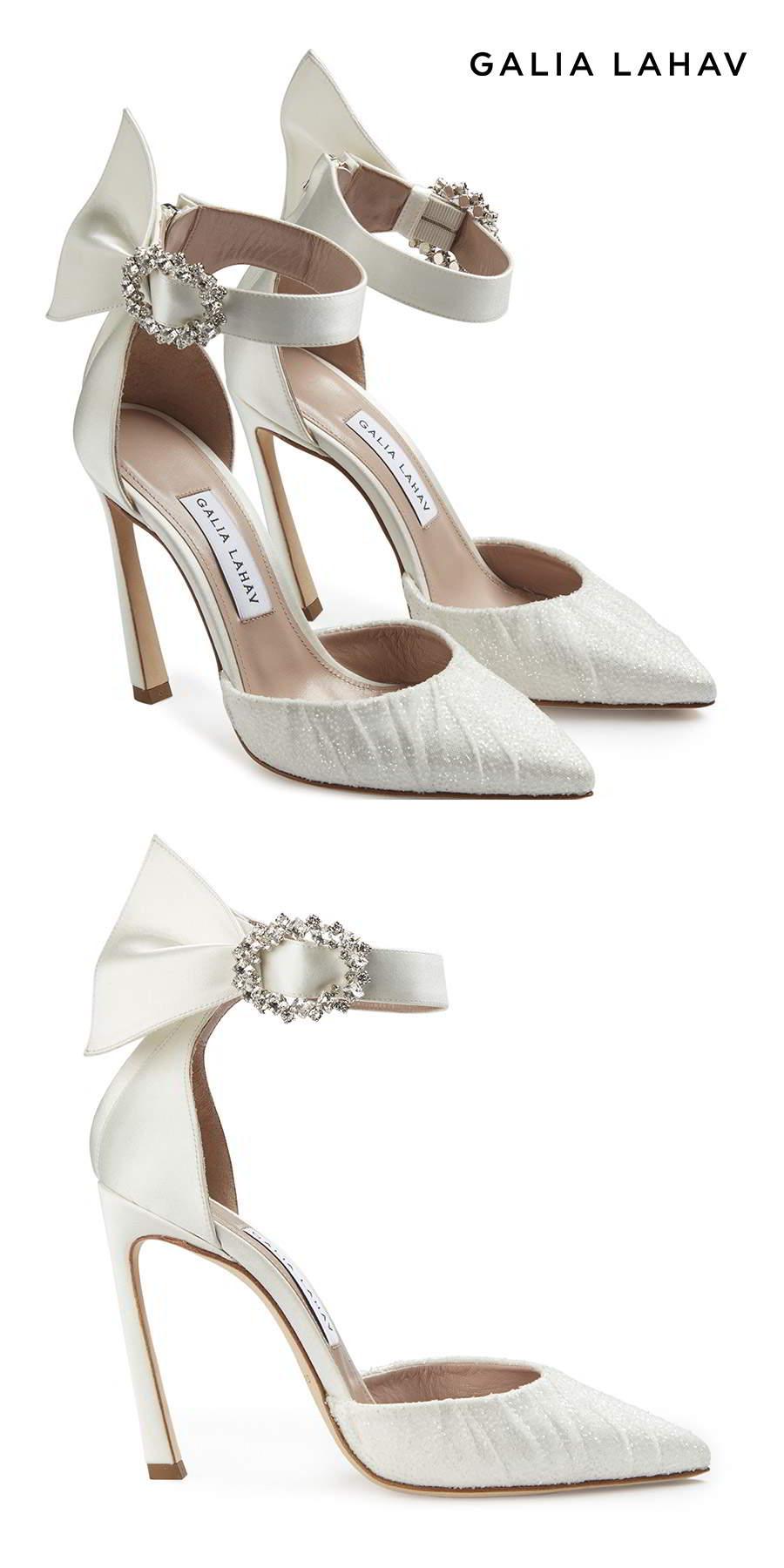 galia lahav shoes fall 2021 bridal beaded high heel pointed toe d orsay pump ankle straps wedding shoes packshot (ariel) mv