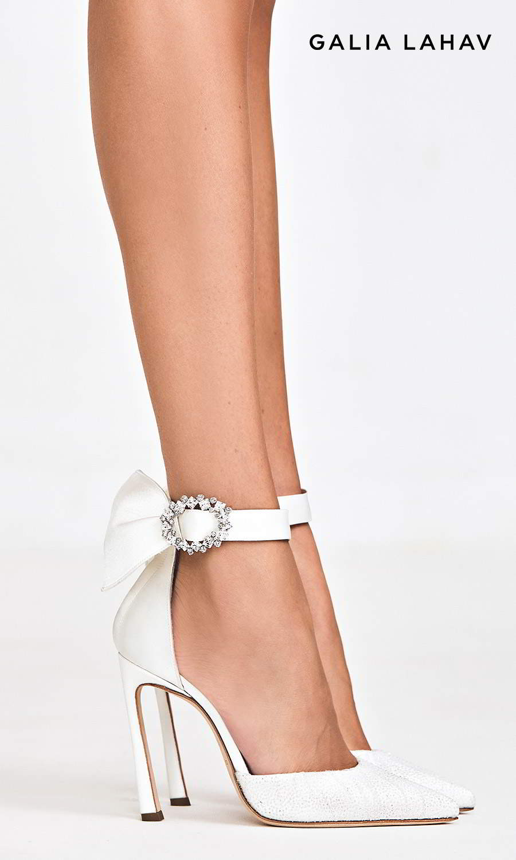 galia lahav shoes fall 2021 bridal beaded high heel pointy toe d orsay pump ankle straps wedding shoes (ariel) mv