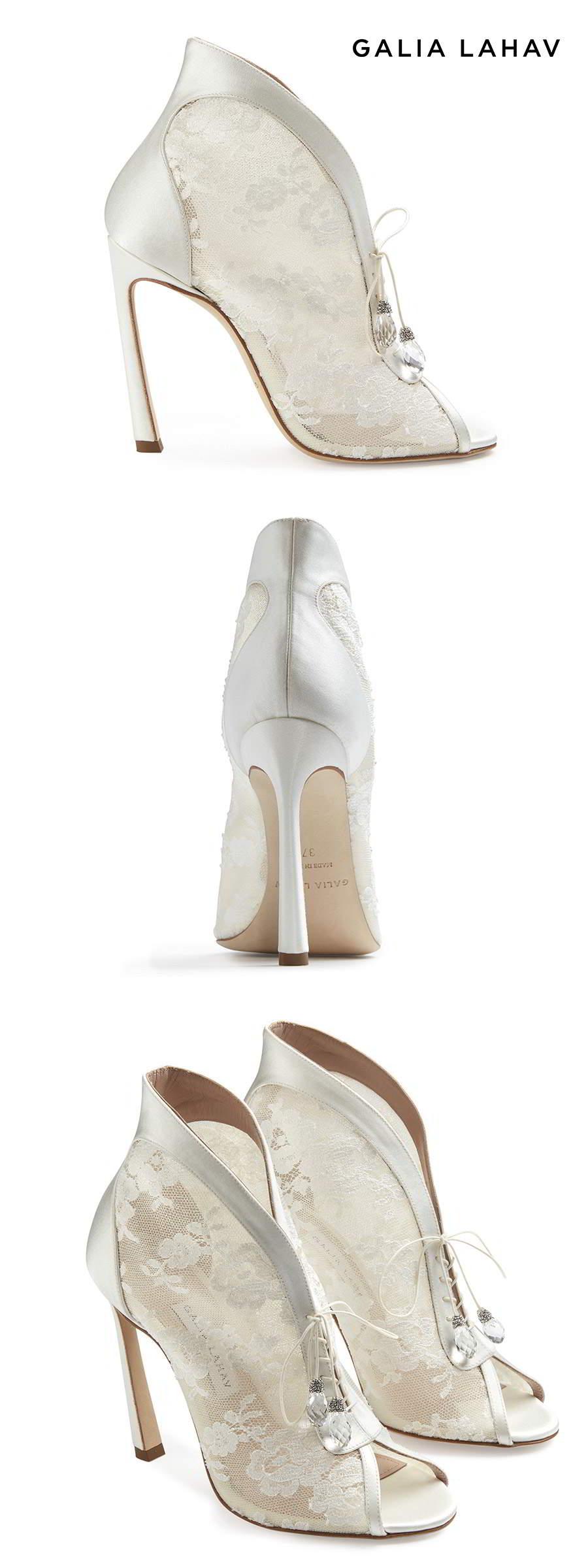 galia lahav shoes fall 2021 bridal lace open toe strap ghillie pump high heel wedding shoes (lucinda lace) mv