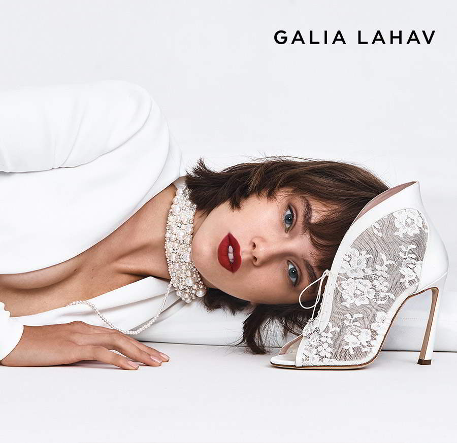 galia lahav shoes fall 2021 bridal lace open toe strap ghillie pump high heel wedding shoes (lucinda lace) zv