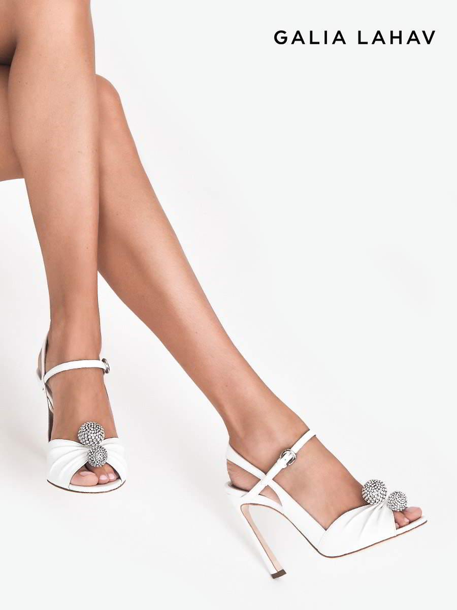 galia lahav shoes fall 2021 bridal strappy peep toe high heel wedding shoe (kate diamonte) sv