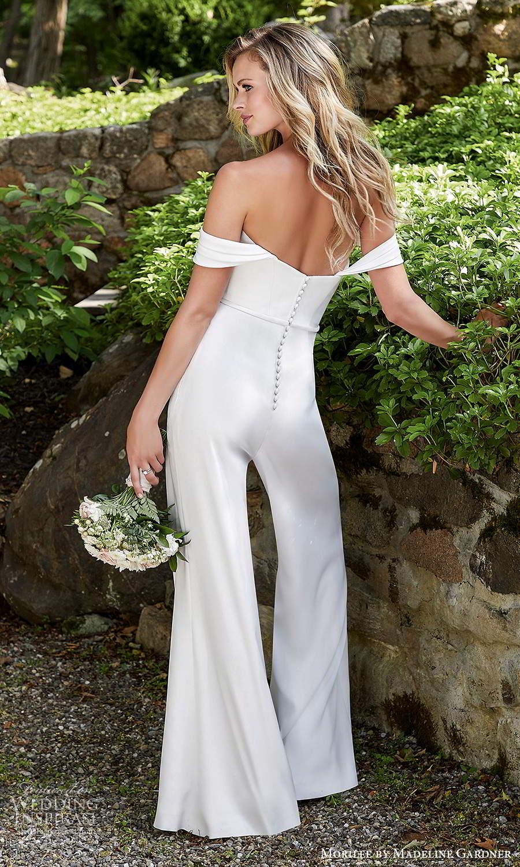 morilee madeline gardner spring 2021 bridal detachable straps strapless sweetheart neckline jumpsuit pants wedding dress (10) bv