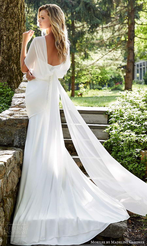 morilee madeline gardner spring 2021 bridal strapless sweetheart neckline clean minimalist modern sheath wedding dress chapel train (5) bv