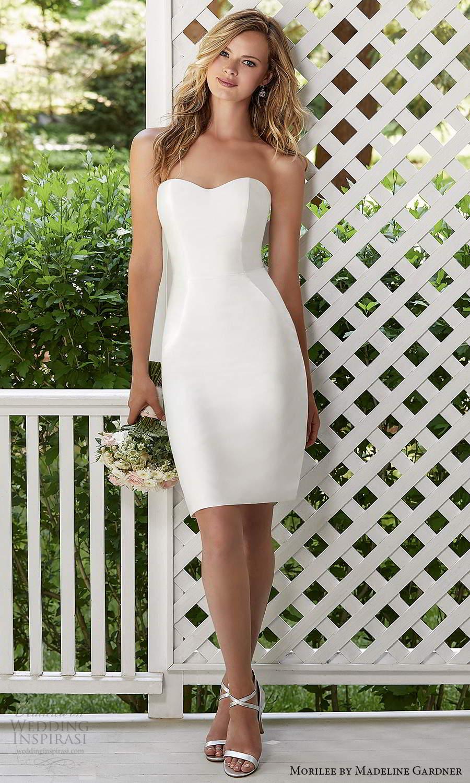 morilee madeline gardner spring 2021 bridal strapless sweetheart neckline short knee length wedding dress (9) zv
